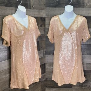 Beyond Vintage Beaded Silk Tunic